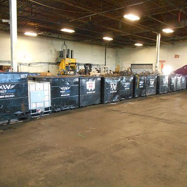 West Coast Metal Recycling Containers